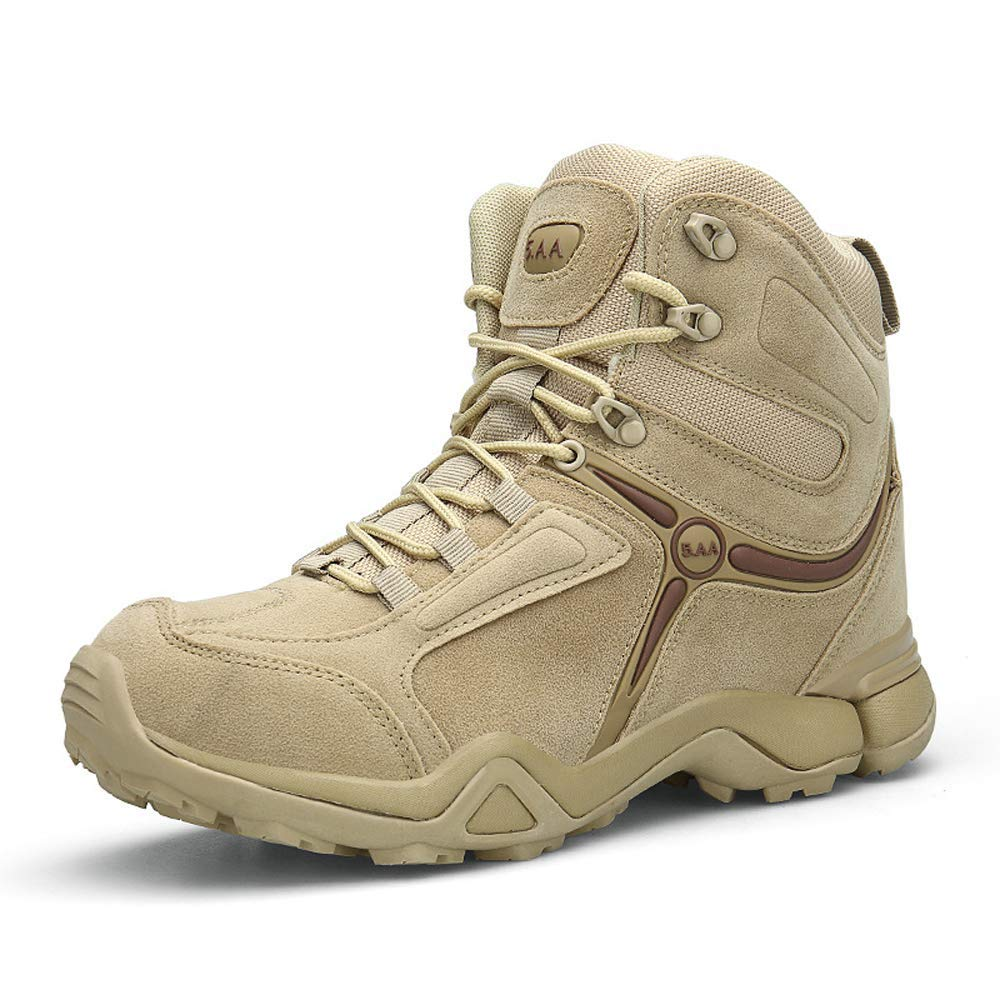 d45142b367a Get Quotations · VGEORGE Mens Hiking Boots Outdoor Non-Slip Military CS Sport  Shoes Microfiber Suede Leather Military