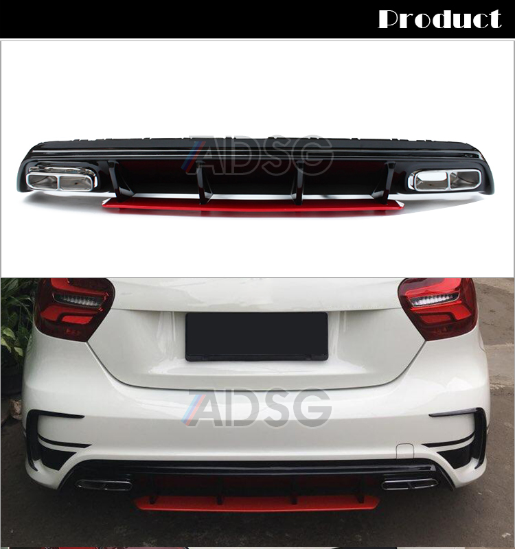 a45 style diffuser exhaust for mercedes a class w176. Black Bedroom Furniture Sets. Home Design Ideas