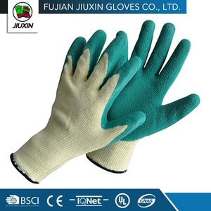 non disposable safety keep safe working green latex gloves