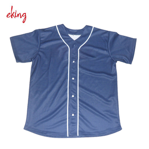 Custom stripe oversized infant button down baseball jersey
