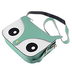 Labara Shoulder Bags Hotsale New Arrival Cartoon Bag Owl Leisure Women Leather Handbag Fox Wallets Women Messenger Bag Casual Bag (Green)