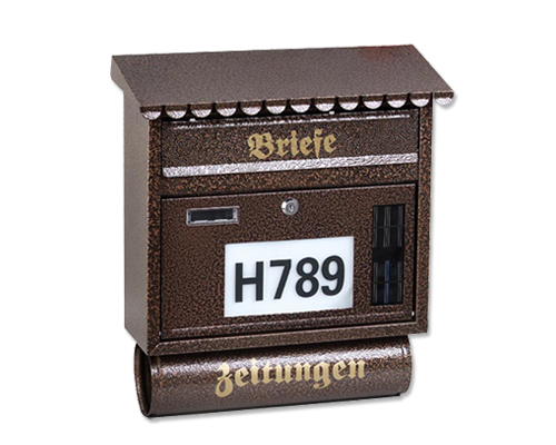 FQ-130 Hot Sale LED Lighted House Number letterbox,mental mailbox,