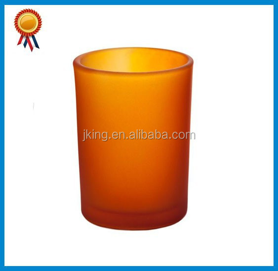 Orange Frosted Candle Holder Cheap