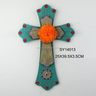 polyresin multicolour decorative crosses church wall decor
