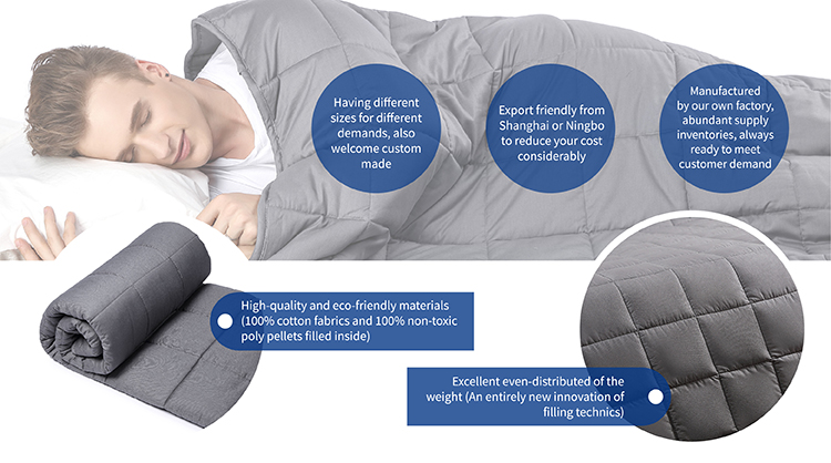 Bulk Buy from China Alibaba Factory Stock Quilt Baby Weighted Blanket