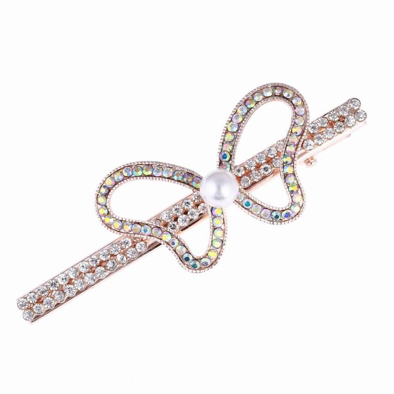 Elegant Butterfly Crystal Glitter Multicolor Rhinestone Hair Decorations Hair Accessory Jewelry For Young Women