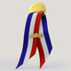round gold plated medal, ribbon for medal, medal ribbon drape