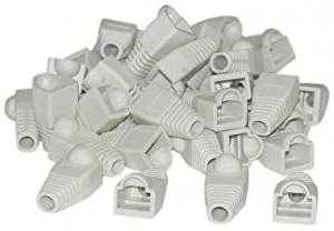 RJ45 Beige Color Strain Relief Boots (50 Pcs Per Bag). CAT 5 Cable Bulk, CAT 5 Cable Bulk