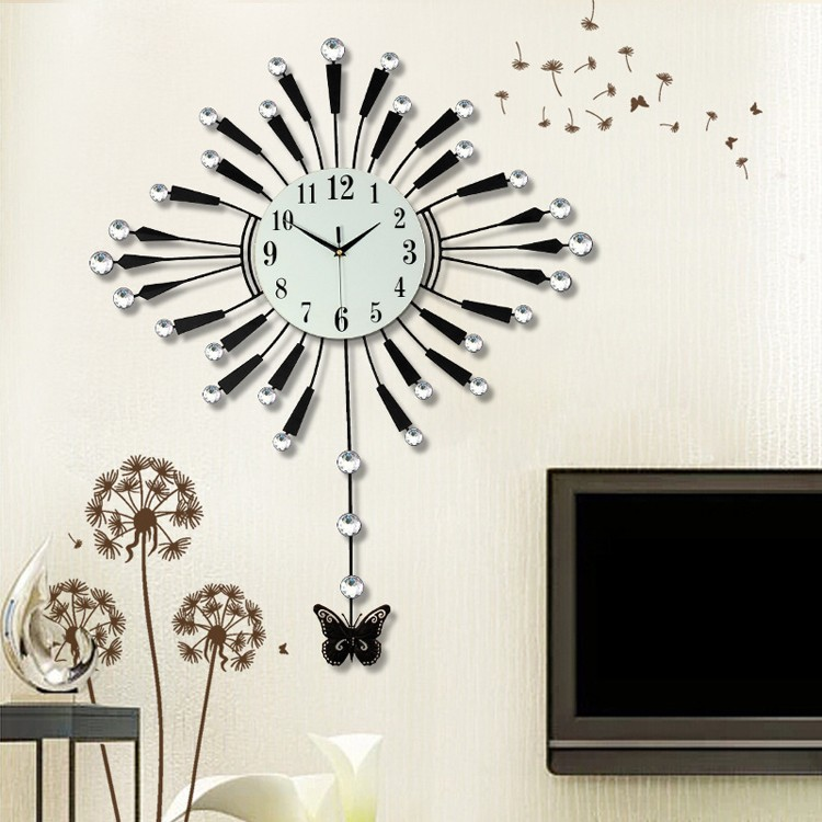grossiste horloge murale design grande taille acheter les meilleurs horloge murale design grande. Black Bedroom Furniture Sets. Home Design Ideas