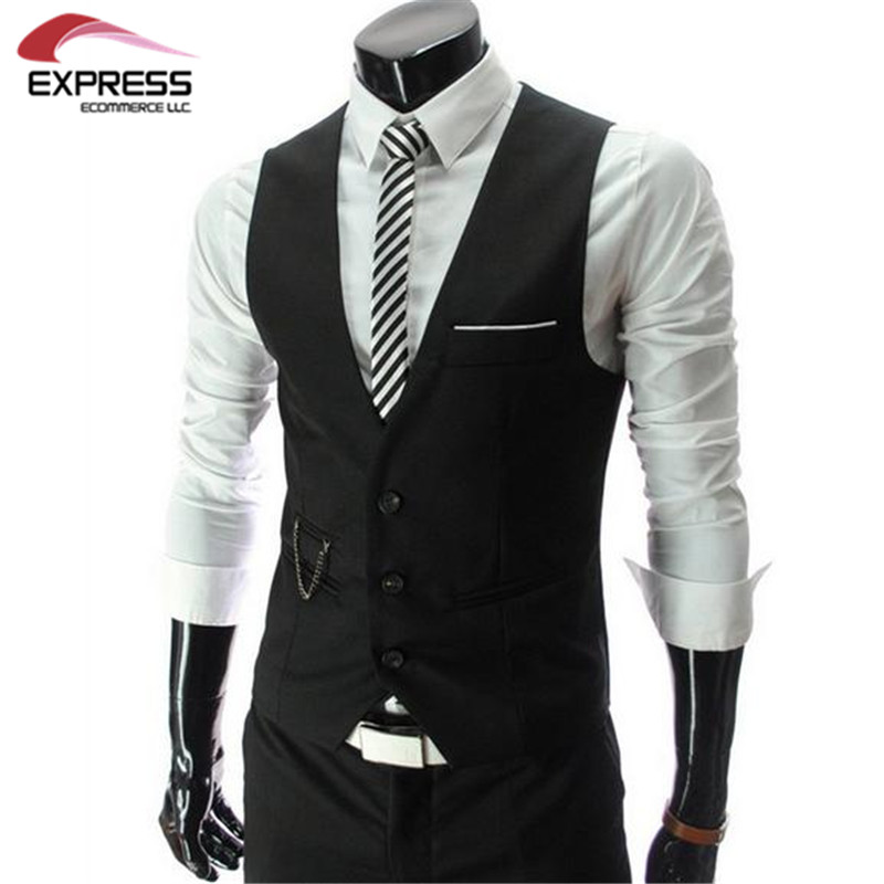 2016 New Arrival Men Suit Dress Vests Men s Fitted Leisure Waistcoat Casual Business Jacket Tops