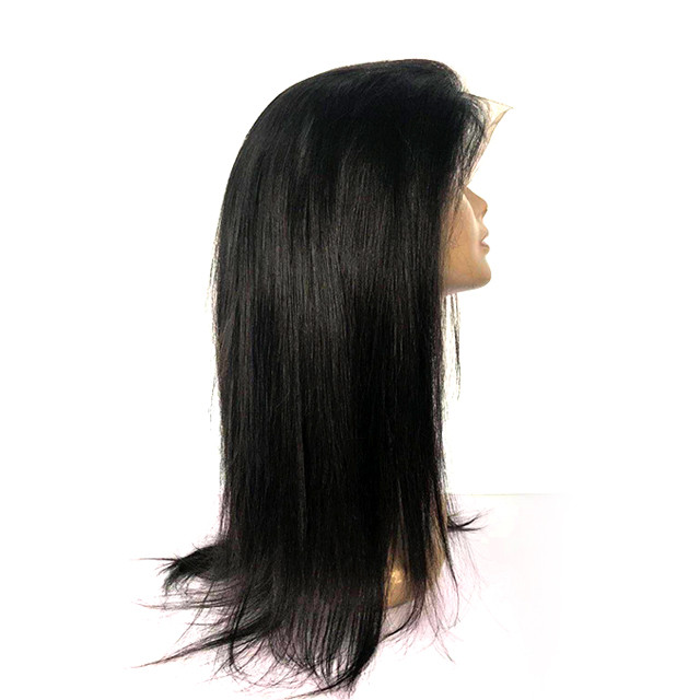 Natural Color Raw Indian Hair Unprocessed Virgin Cuticle Aligned Indian Straight Human Hair Wig Transparent Swiss Lace Wig