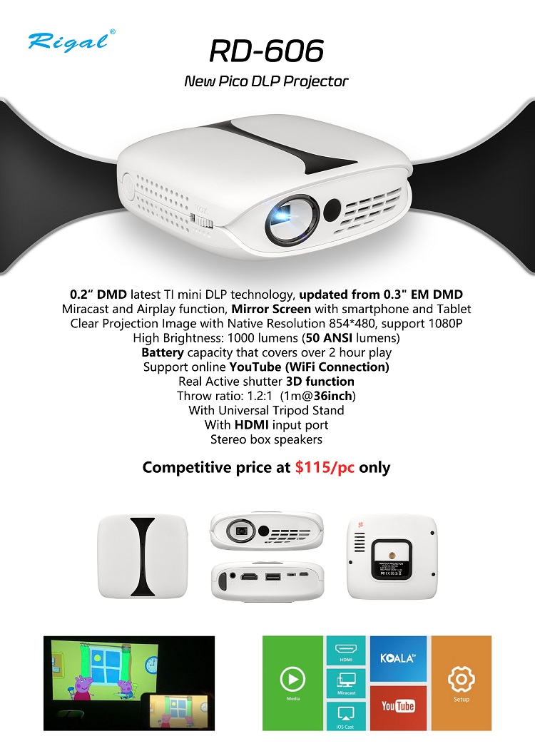 Белый ТВ проектор и мультимедийный мульти экран usb hdmi зарядное устройство проектор