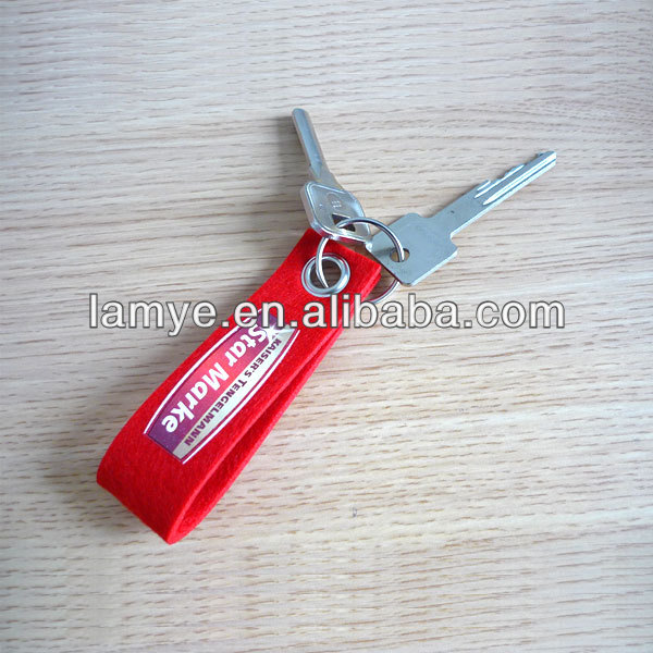 Hot! Manufacture custom felt keychain with logo printed for promotion gift