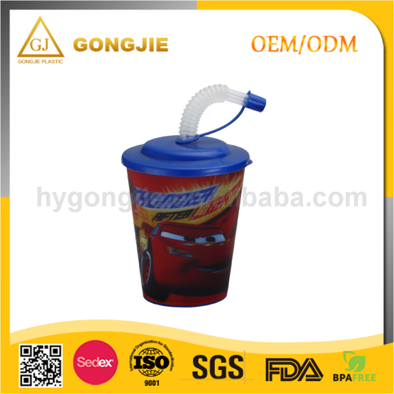 GJ-118, Taizhou,Gongjie, 2017 hot selling products, 12 oz Promotion Custom 3D Floater Liquid Plastic Cup