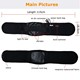 USB battery warm heating electrical heated thermal belly slimming belt