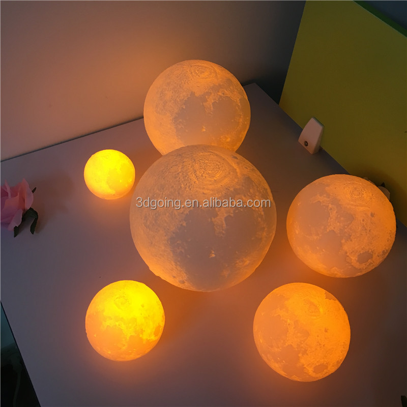 small fast selling items lamp baby lamp LED 3D moon night lamp