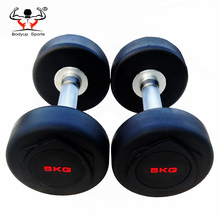 Professional Gym Crossfit Weight Liting Exercise Used Rubber Dumbbell Set