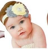 Smile Lovely Baby Girls Headbands Rhinestone Flower Headbands For Girls Infant Hair Band for kids HB320