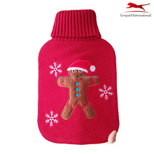 Warm kerstcadeau de Gingerbread Man hot water bag breien cover voor giant warmwaterkruik warmer