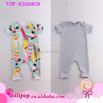 3edfeeac1685 New Cute Plain Onesie Baby Girls And Boys Rompers Infant Short ...