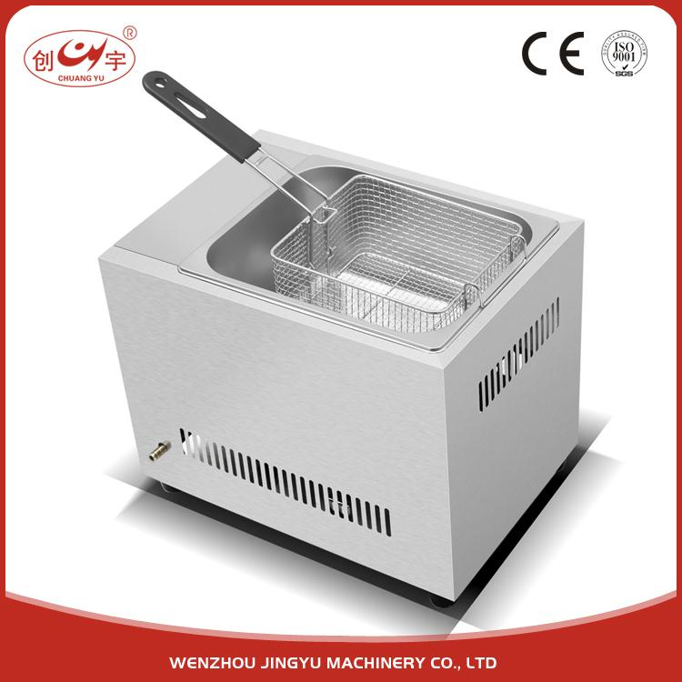 Chuangyu Hot Selling Products Lpg Gas Donut Fryer Machine / Deep Fryer Professional