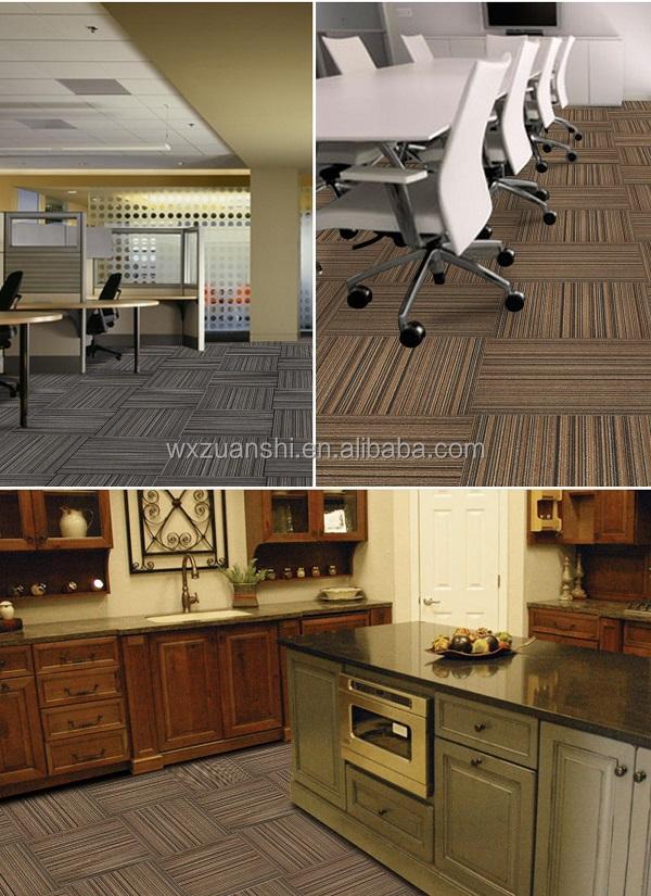 deep colour pp loop pile stripe carpet tile modular tile office carpet jacquard grey