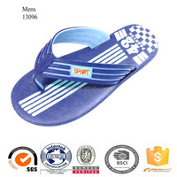 2015 mens soft sole beach flip flops sandal blue EVA flip flops