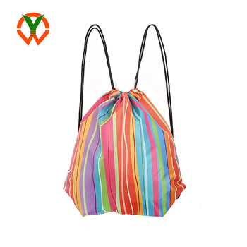 Brand New Design Practical Gym Waterproof Polyester Drawstring Bag (YCTR)