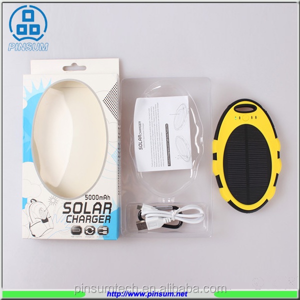wholesale consumer electronics mobile solar charger power bank