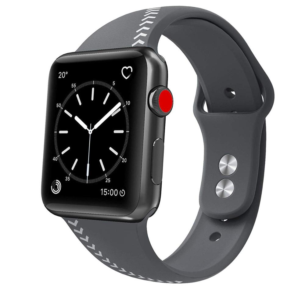 bfabddda511 Sport Band Compatible for Apple Watch 42mm 44mm Soft Silicone Men Large  Strap