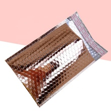 Professionele Productie Custom Poly Rose Gold Black Bubble Bubble Mailer Wrap Envelop