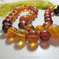 customized 8mm 10mm11mm raw amber baltic amber prayer beads natural stone jewelry for sale