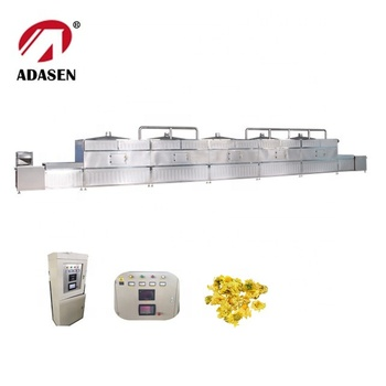China supplier microwave drying and fixation machine for chrysanthemum