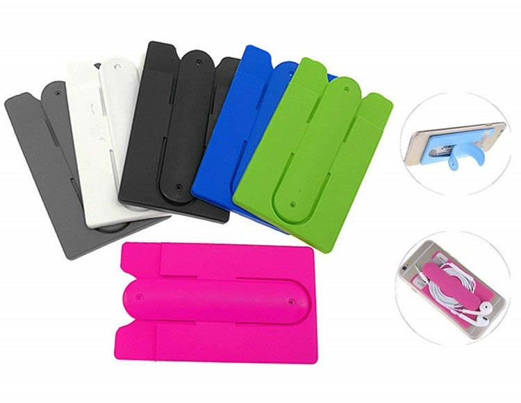Latest Design Cell Phone Credit Card Holder Attach to The Back for Mobile Phone Back Cover