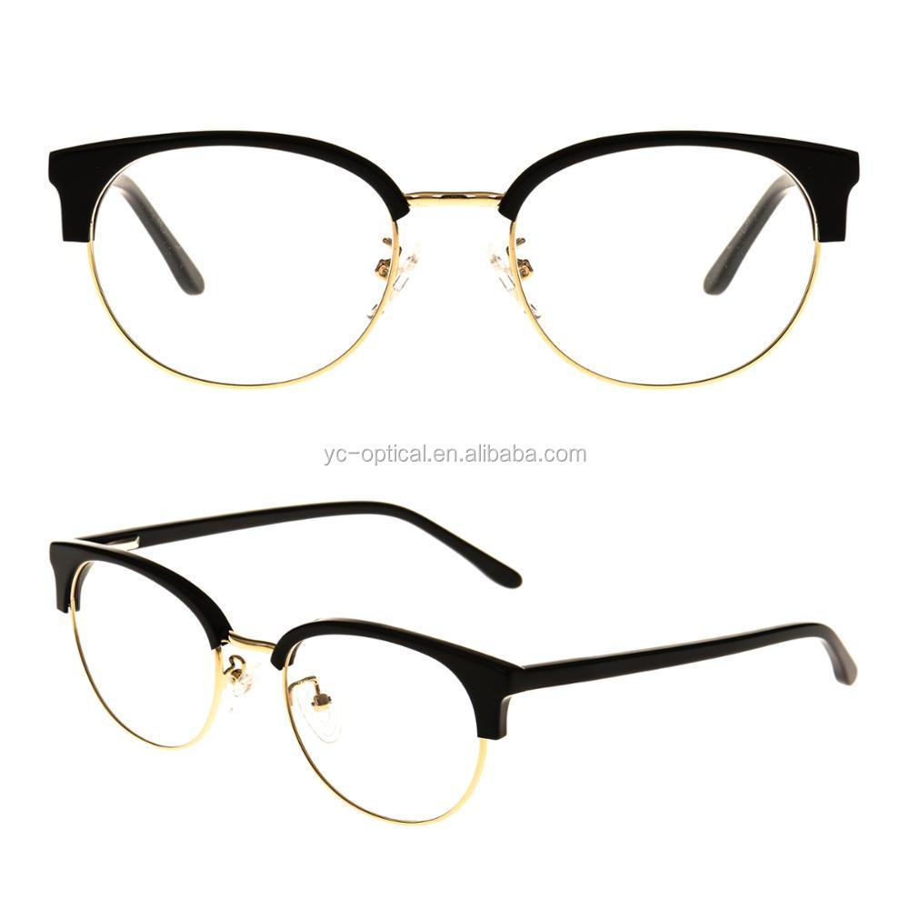 41b005f4200 china whole optical eyeglasses metal temple acetate glasses frame oem  eyeglasses