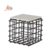 Modern geometric Designer Wire Round coffee table metal tea table with MDF wooden top