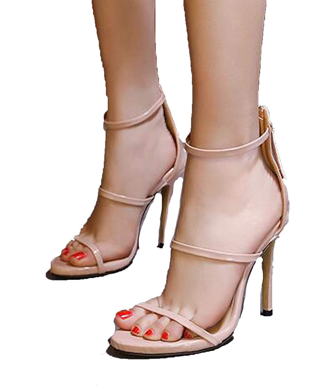 6792d5dd61771 Get Quotations · Romantic moments 2018 Gold Silver Black Nude Celebrity New  Designer Bridesmaid Bridal Pumps Open Toe Sandal