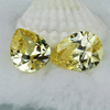 Hot sell pear cut 6*8mm synthetic L-yellow cubic zirconia stones for India buyer