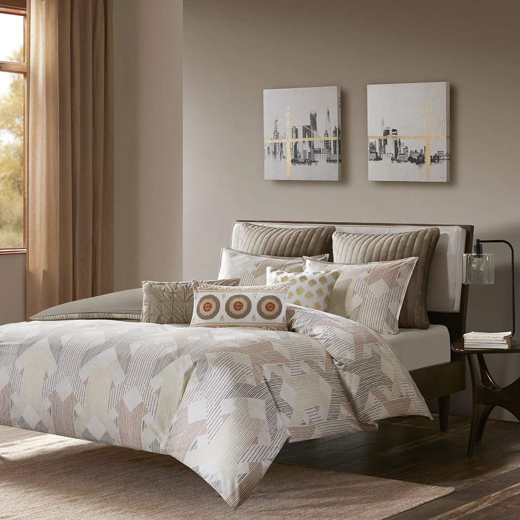 Ink+Ivy 3 Piece Duvet Cover Mini Set King/Cal King/Spice/Gold