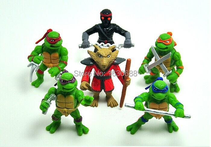 """6pcs//Lot Teenage Mutant Ninja Turtles Movie 4.5/"""" PVC Action Figure Toy TMNT Gift"""