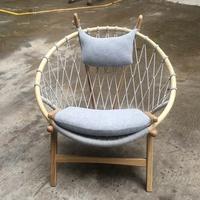 Danish Hans Wegner Style Hoop Circle Chair