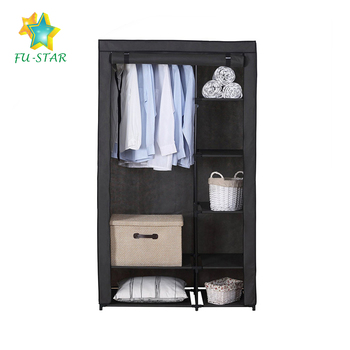 Captivating Fair Price Waterproof Cloth Storage Folding Assemble Fabric Wardrobe