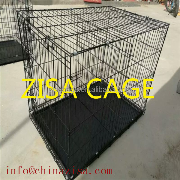 Black Double door 48'' Metal Dog kennel / dog crate / cage/house