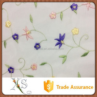 China Supplier Wholesale Flower Pattern Organza Embroidery Fabric