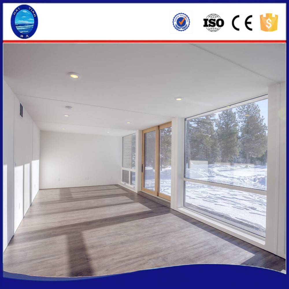 55m2 Easy quick assembly custom outdoor beautiful design 2bedroom luxury living glass villa tiny container prefab house