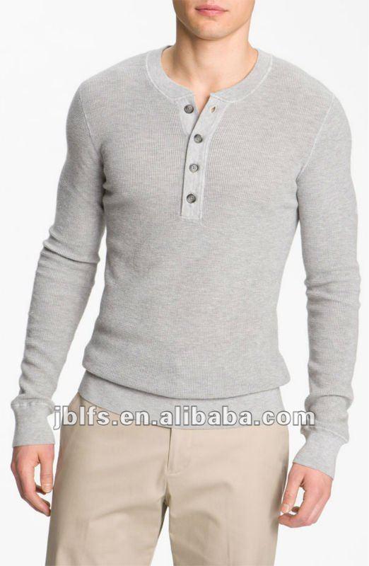 0c39aa16f 4 Botões Slipt Camiseta De Algodão De Manga Longa - Buy Camisetas De  Algodão Para Homens