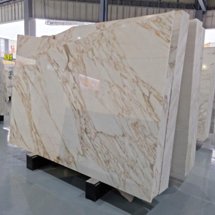 Calcutta Gold Marble Slab Tile