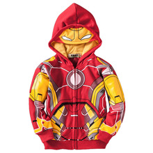 The Avengers Iron Man Children Hoodies Sweatshirt Boys Girls Spring Autumn Coat Kids Long Sleeve Casual Outwear Kids Clothes
