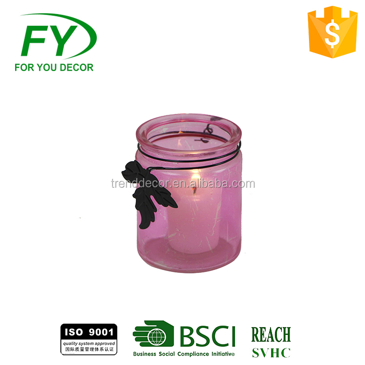 Ch-31856 Tabletop Decoration Clear Glass Tea Light Candle Holder For Wedding