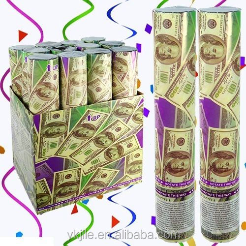 Dollar Money Confetti Party Popper/ Gun Salute